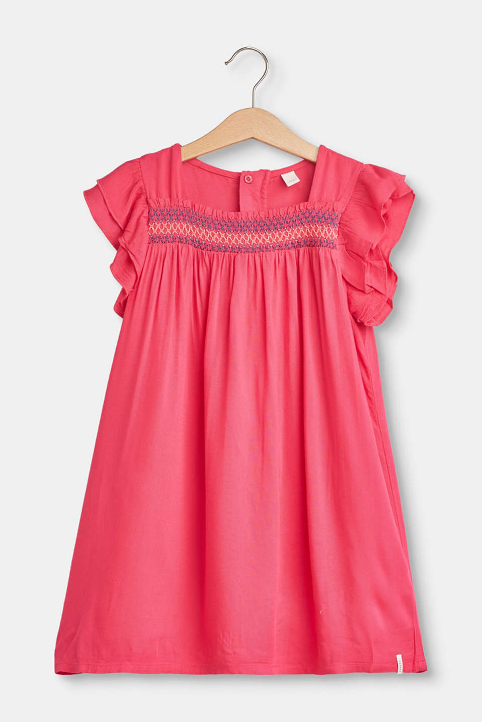 Esprit - Airy A-line dress with frills and embroidery