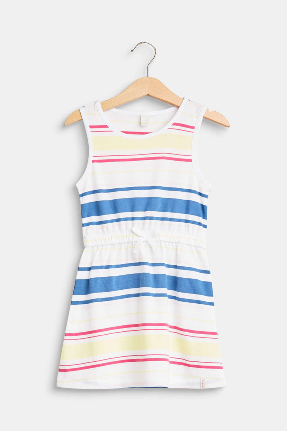 Esprit - Striped vest-style dress made of cotton