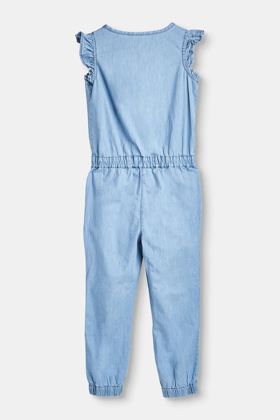 Lightweight cotton denim jumpsuit