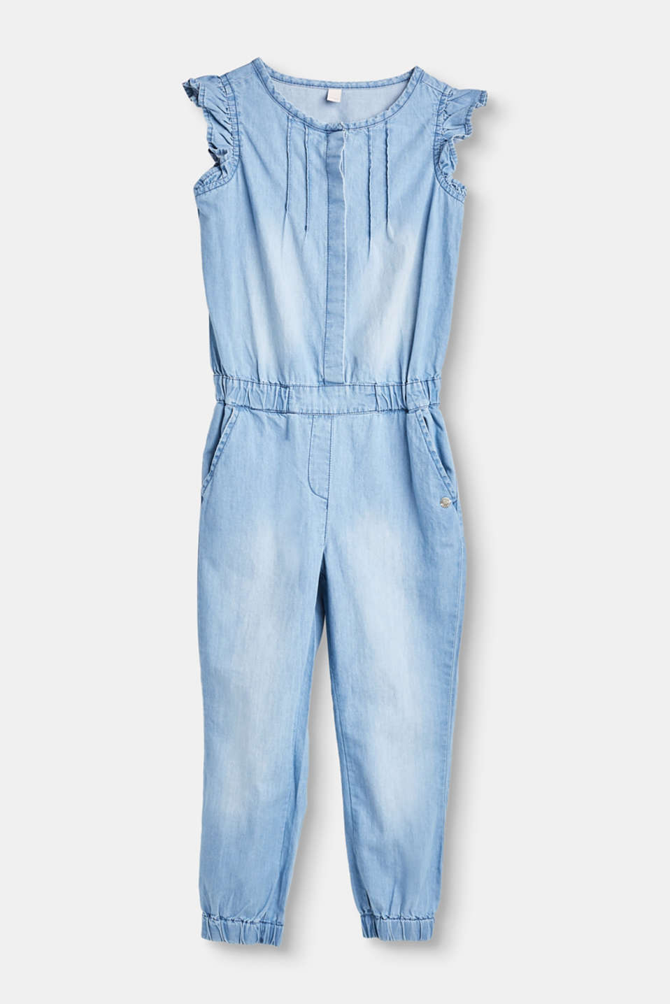 Esprit - Lightweight cotton denim jumpsuit