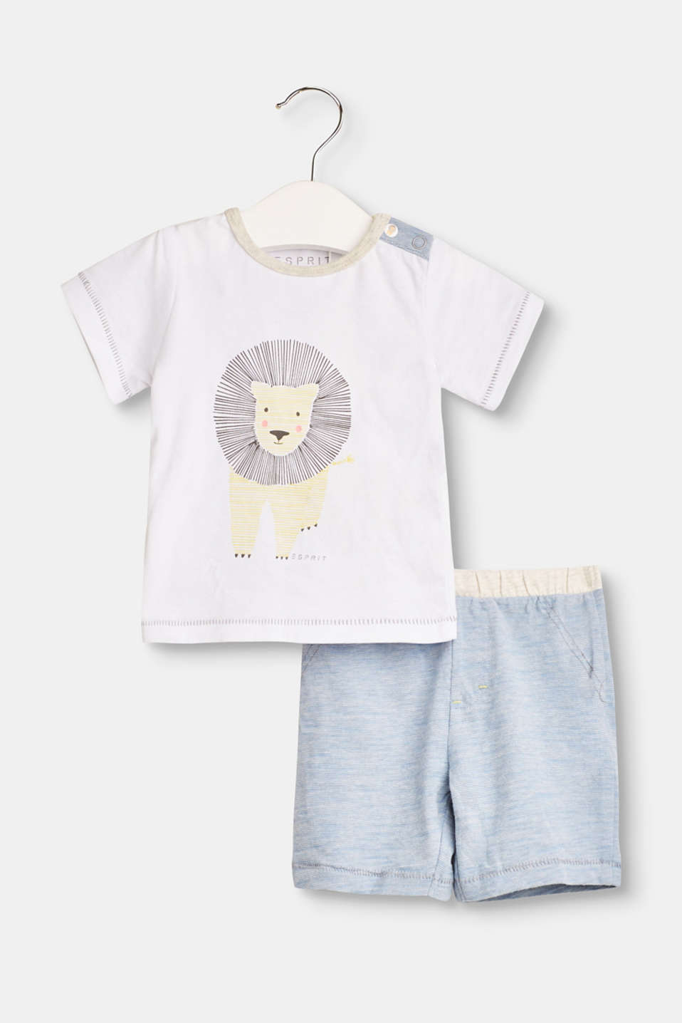 Esprit - Set: T-shirt and shorts with organic cotton