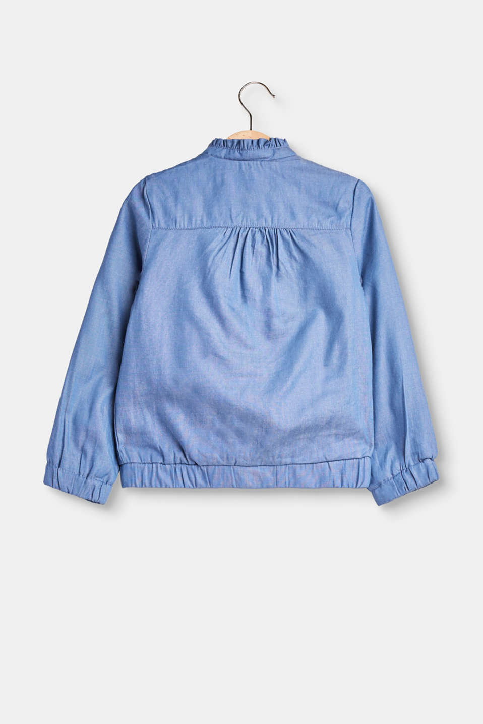 Bomber jacket made of soft chambray