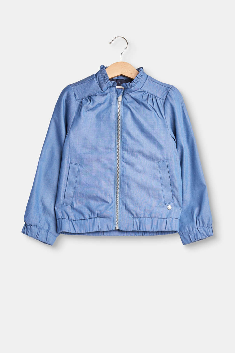 Esprit - Bomber jacket made of soft chambray