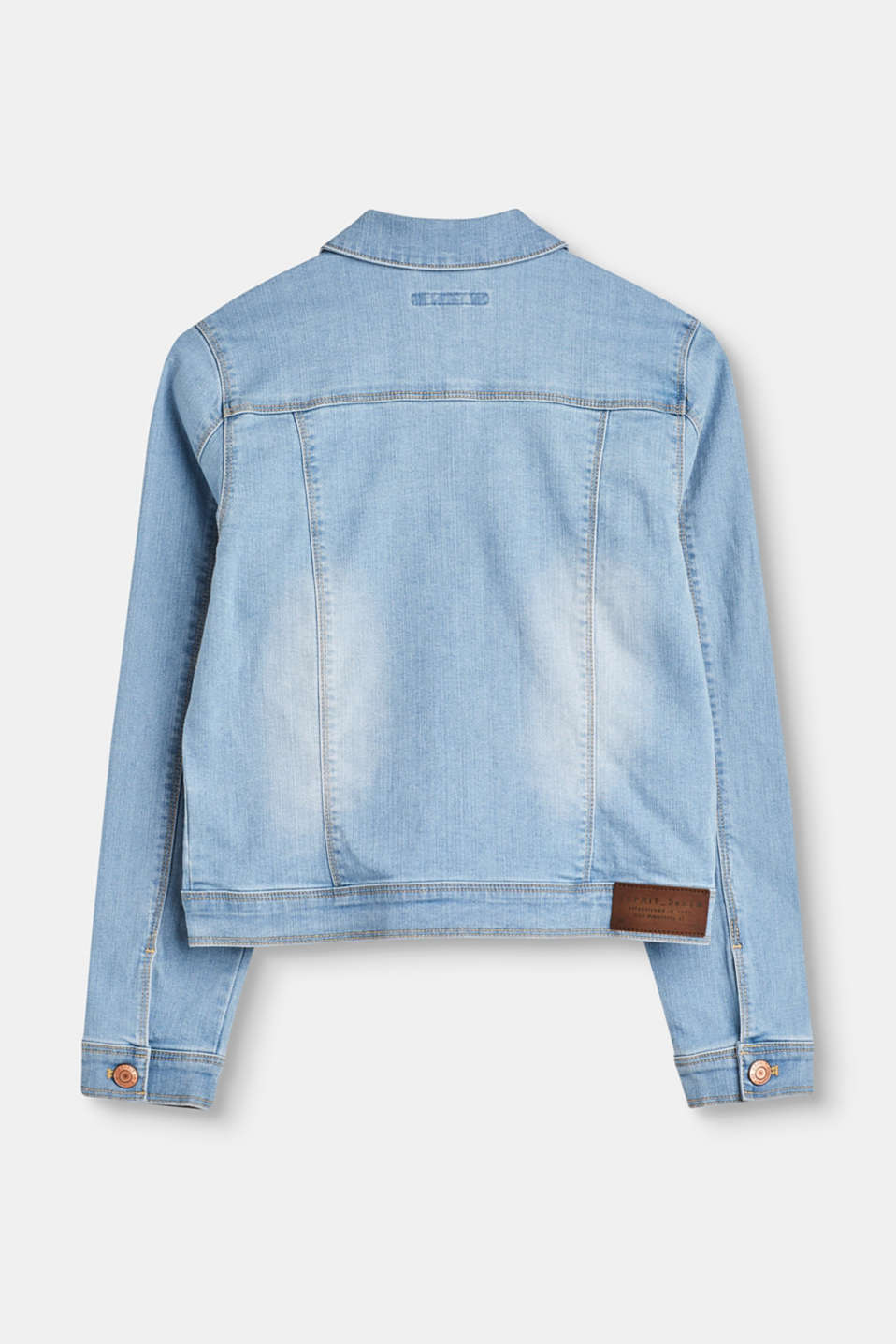 Light denim jacket with stretch for comfort