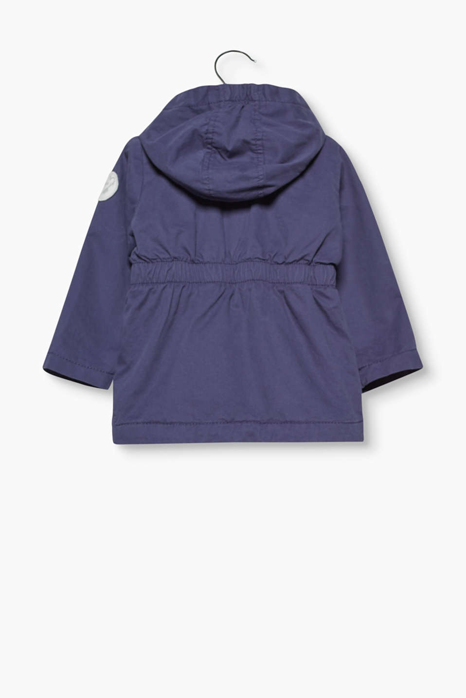 Hooded parka in 100% cotton
