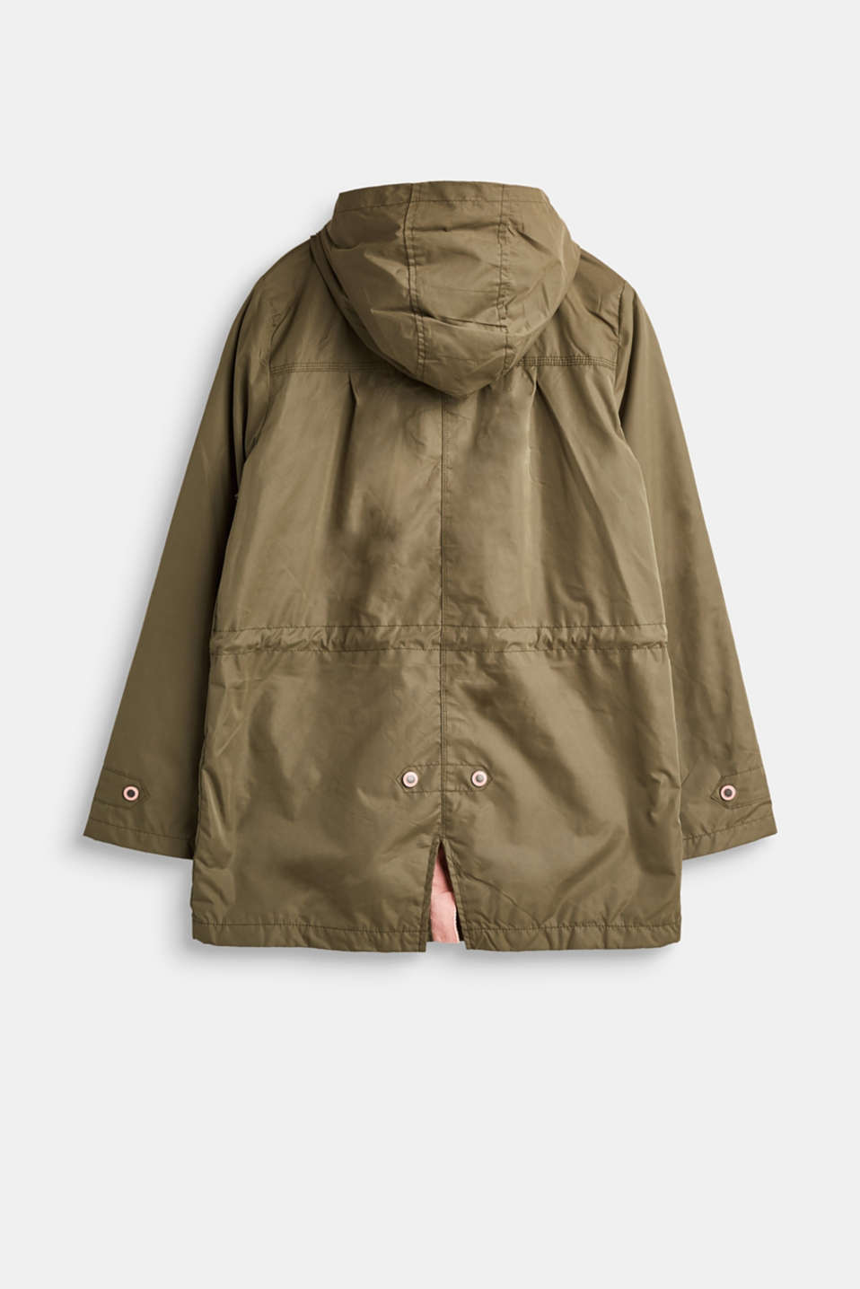 Casual parka with a soft outer surface