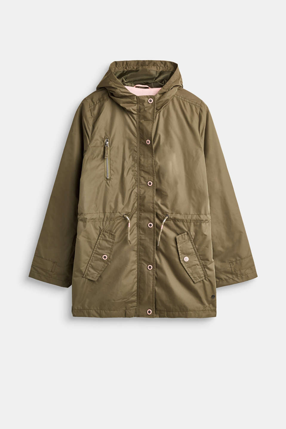 Esprit - Casual parka with a soft outer surface