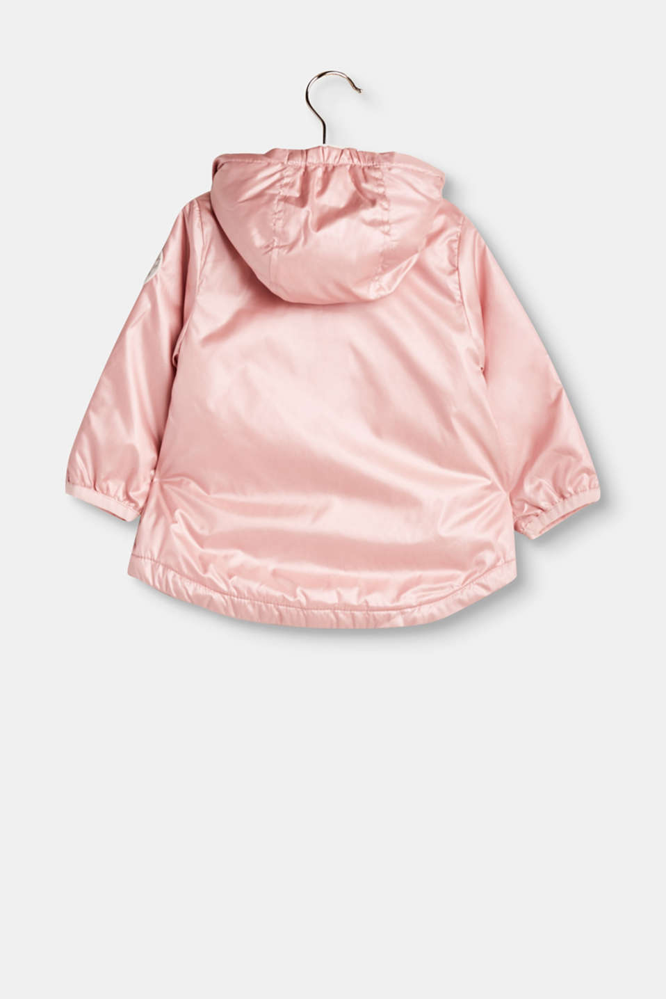 Veste outdoor brillante à capuche