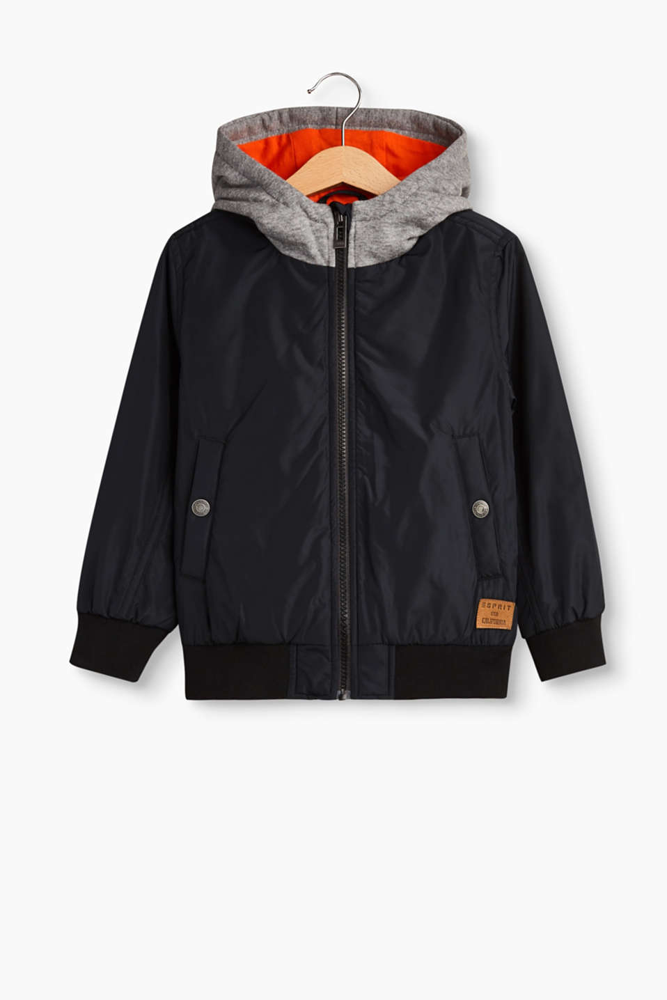 Esprit - Weatherproof jacket with a sweatshirt hood