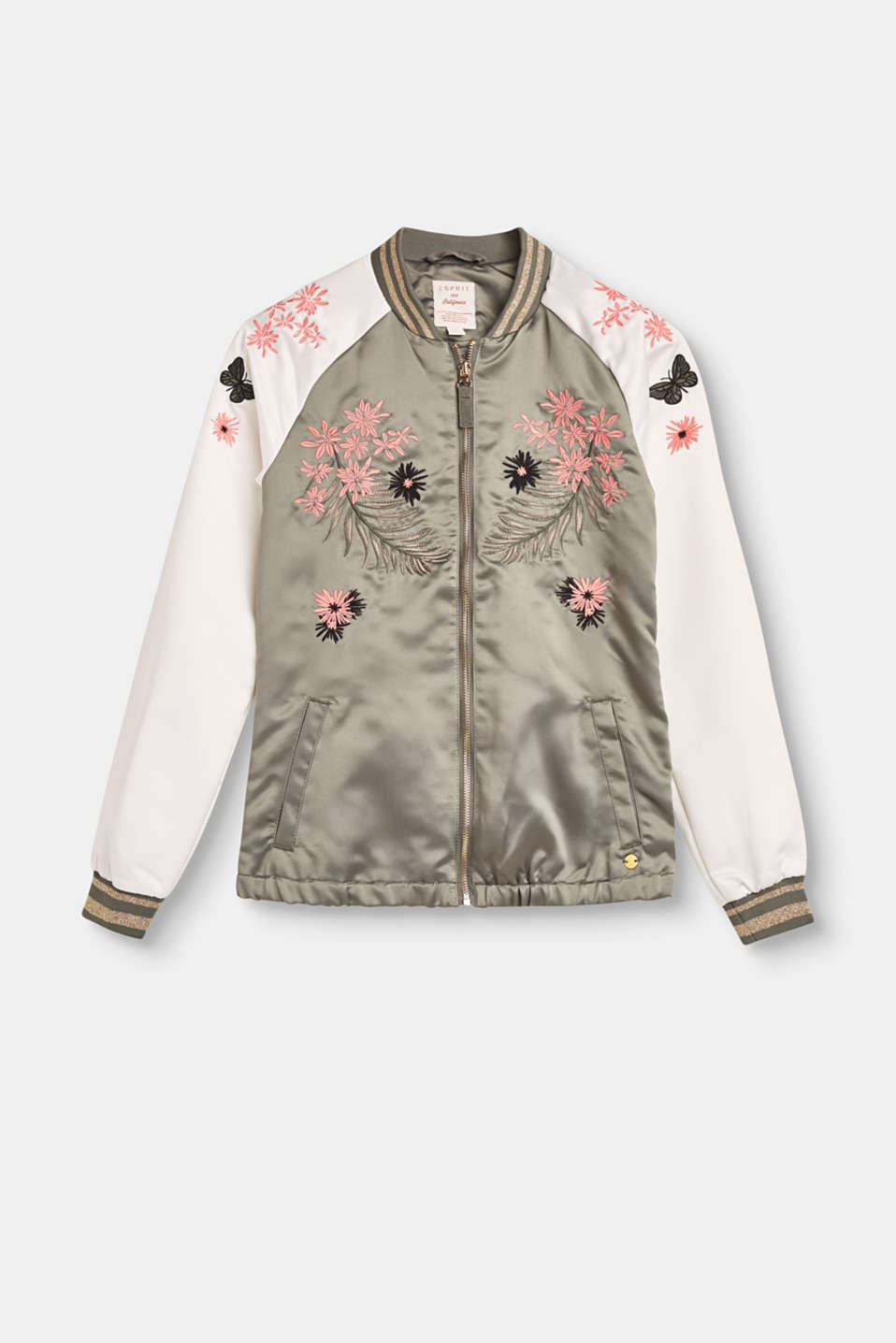 Esprit - Floral embroidery bomber jacket