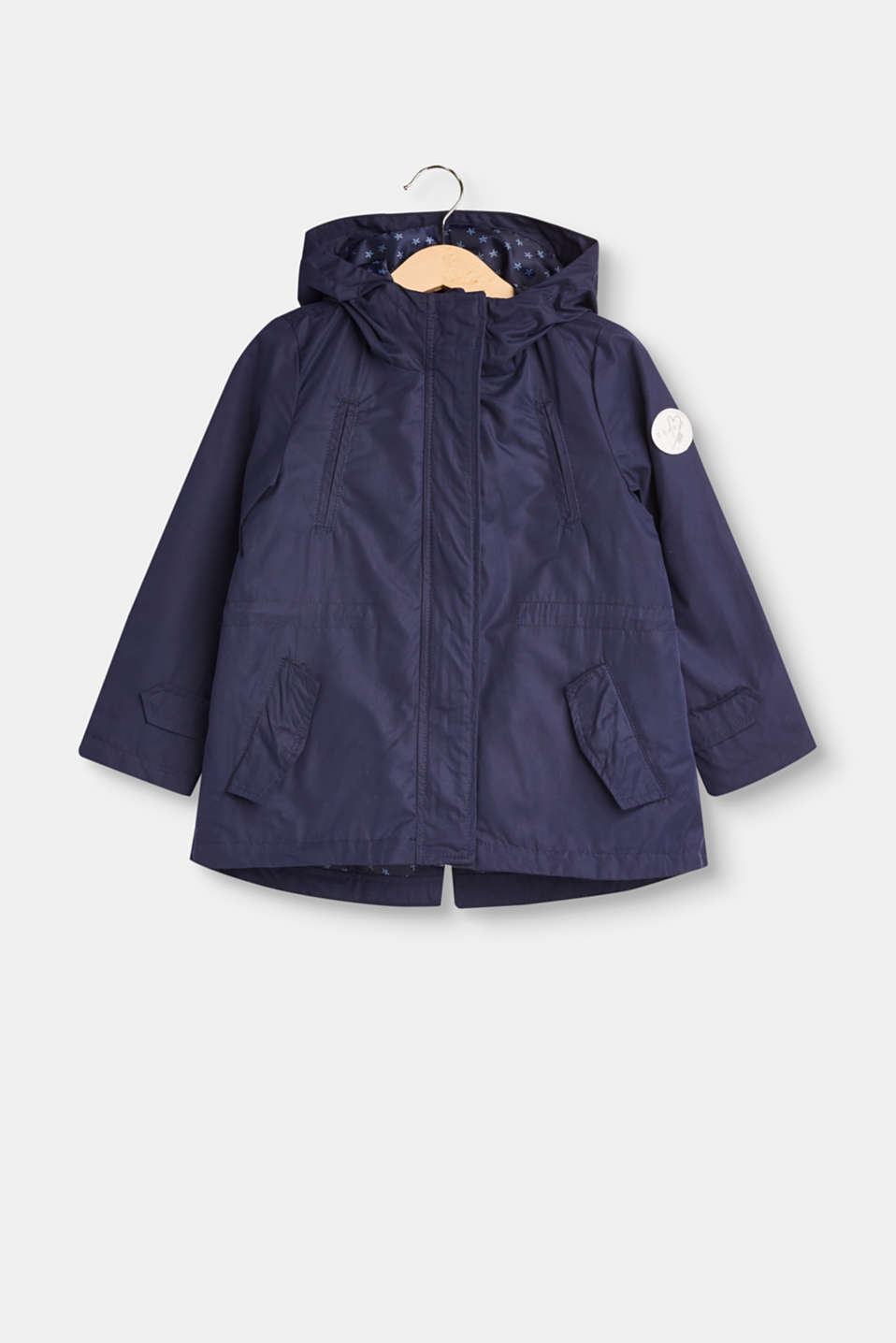 Esprit - Parka with a hood and drawstring waist