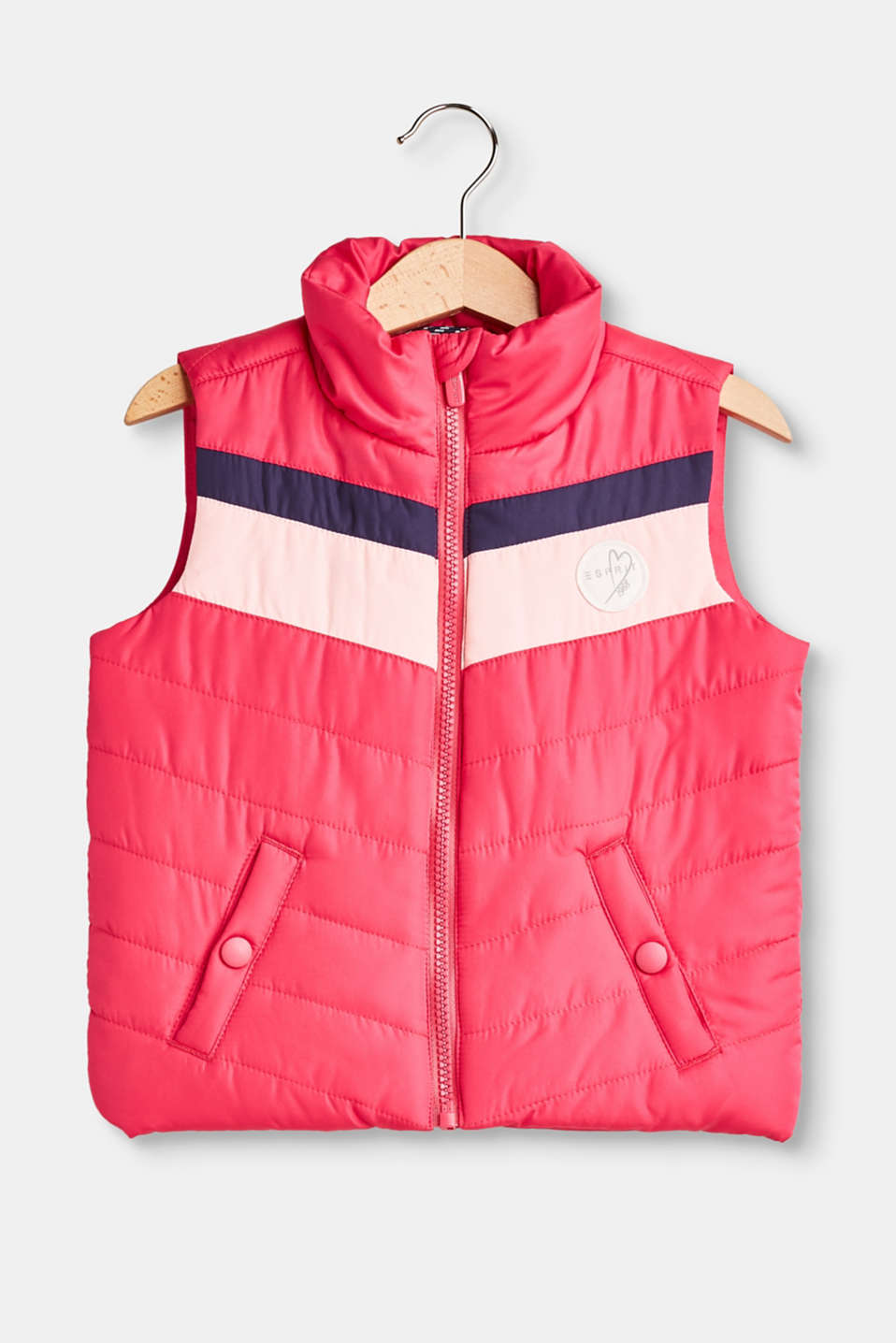 Esprit - Light quilted body warmer + colour blocking