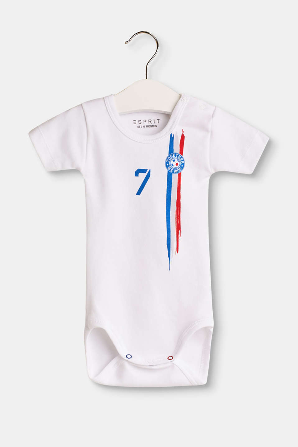 Esprit - Body with a flag print, 100% cotton
