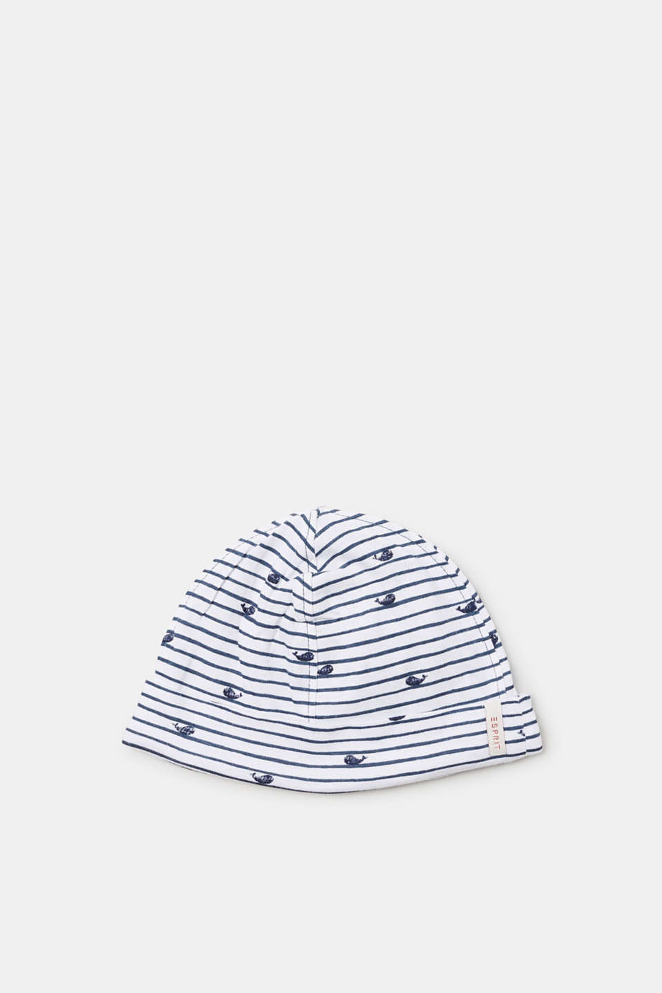 Esprit - Striped hat with organic cotton