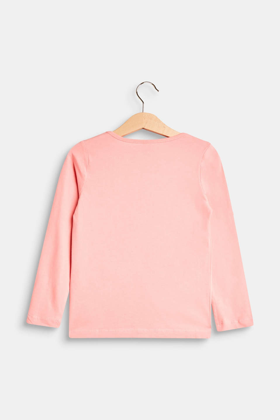 Long sleeve top with glitter, 100% cotton
