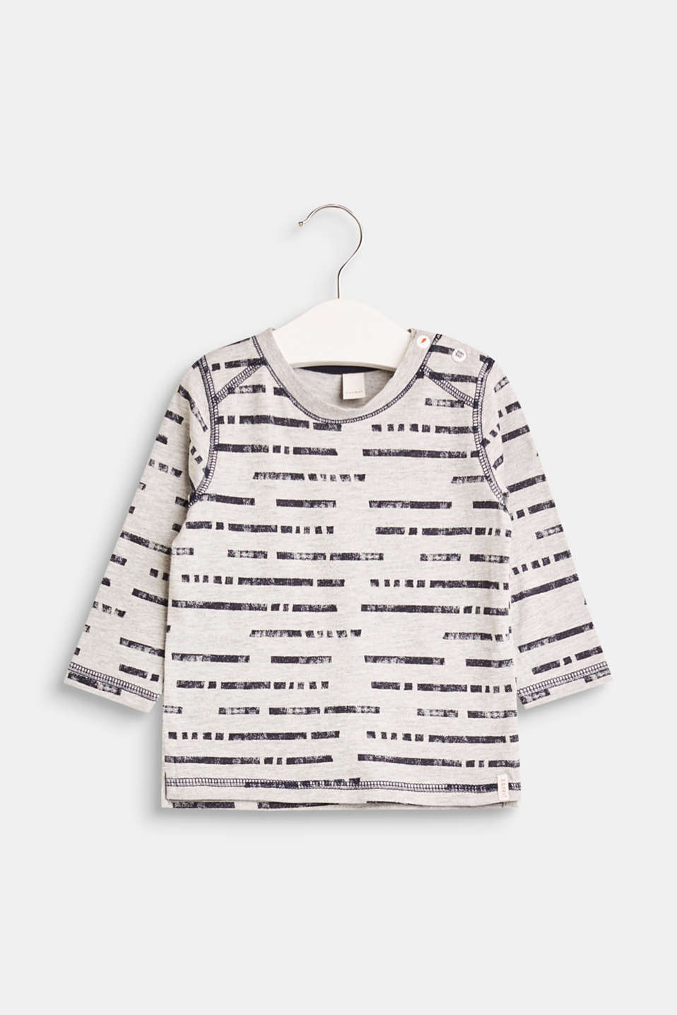 Esprit - Melange printed long sleeve top