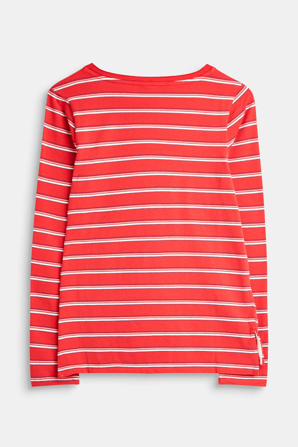 Striped long sleeve top made of stretch cotton