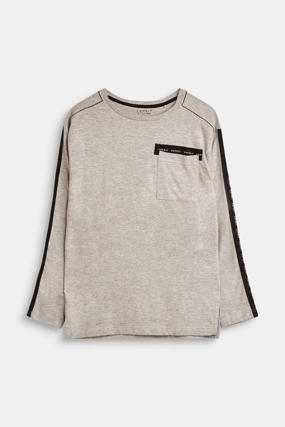 Esprit - Melange long sleeve top with logo tape