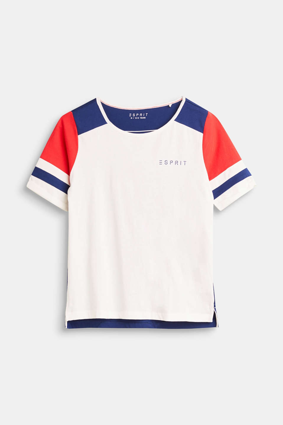 Esprit - Colour block cotton shirt