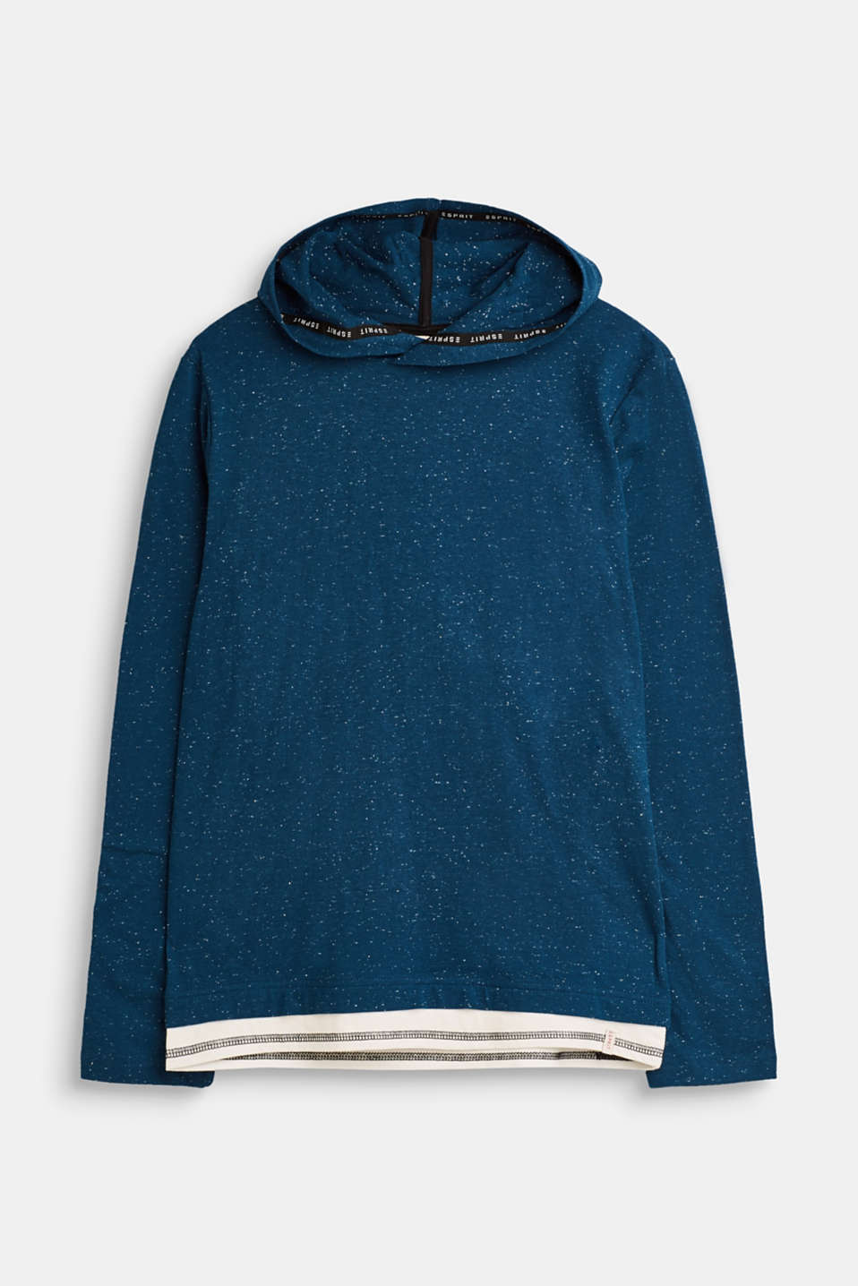 Esprit - Melange long sleeve top with a hood