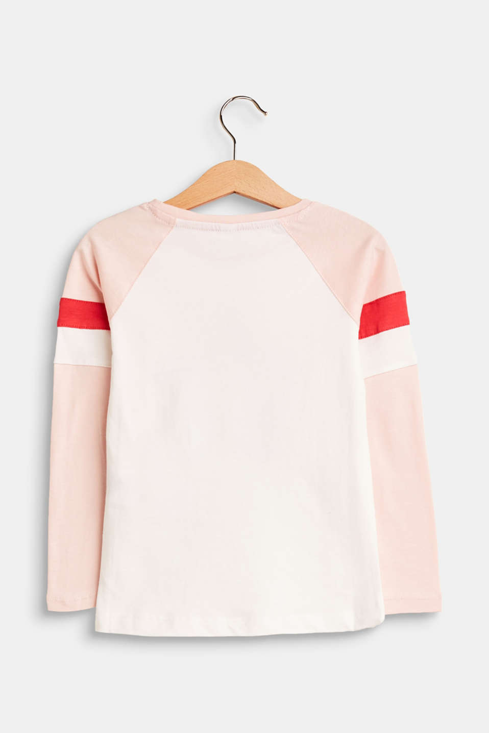 Long sleeve top with appliquéd stars, 100% cotton