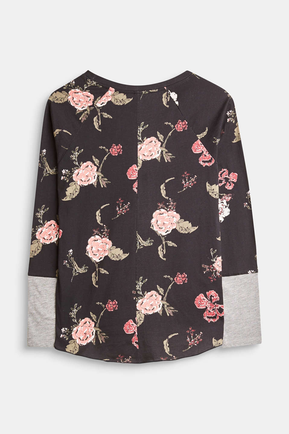 Jersey long sleeve top with a floral print
