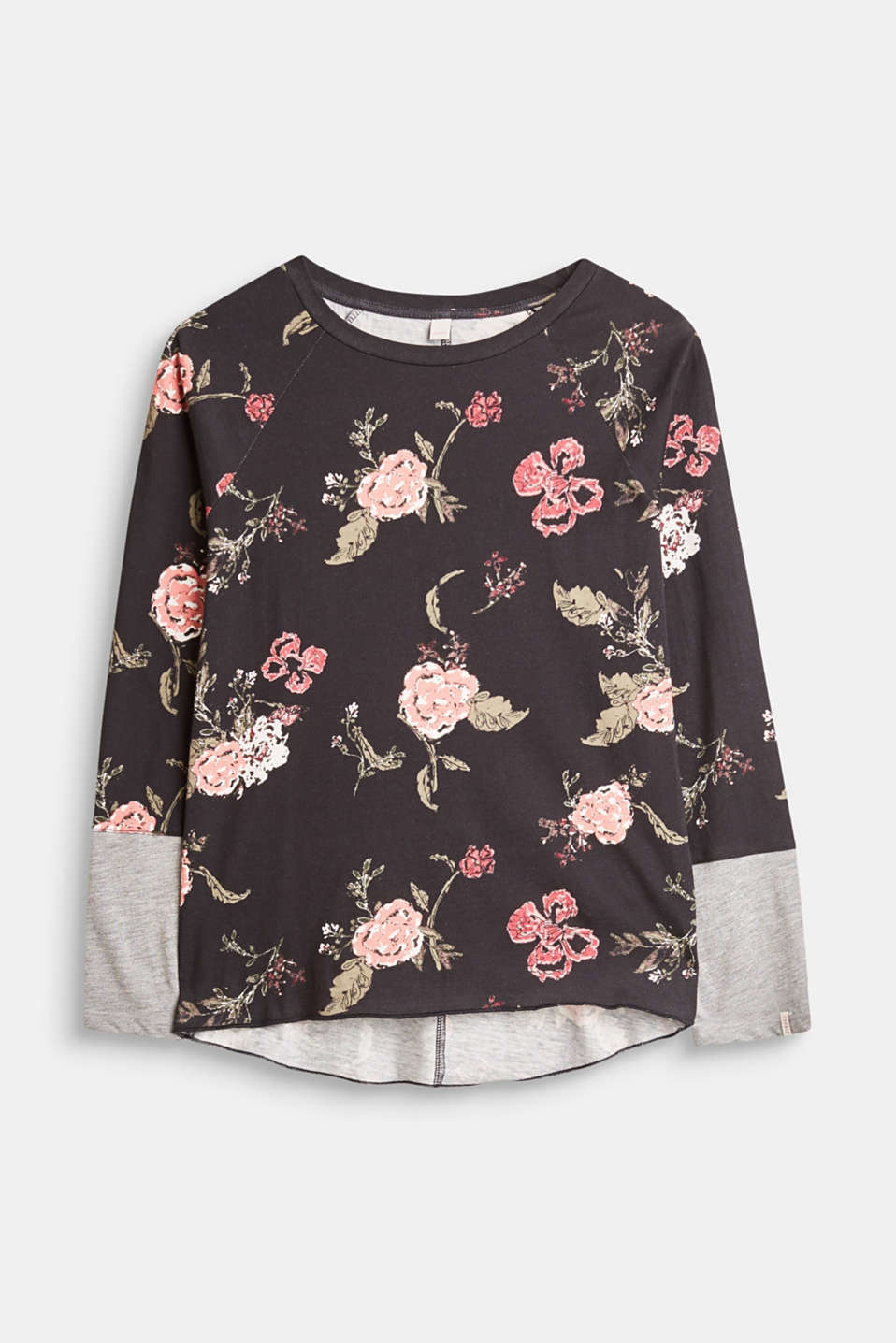 Esprit - Jersey long sleeve top with a floral print