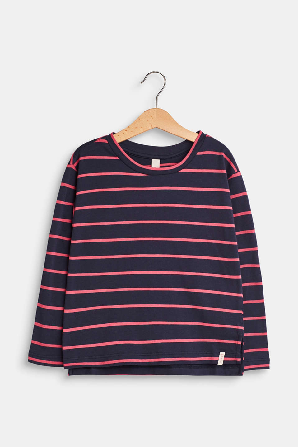 Esprit - Striped long sleeve top made of stretch cotton