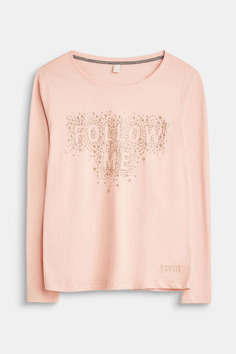 Esprit - Long sleeve top with a glittering 3D print