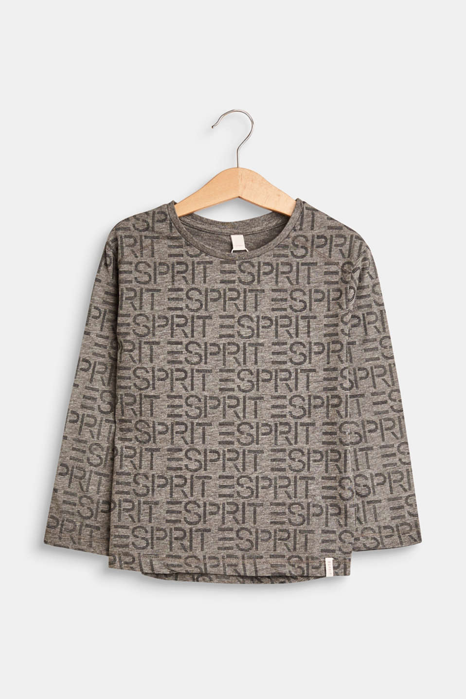 Esprit - Long sleeve top with a logo print