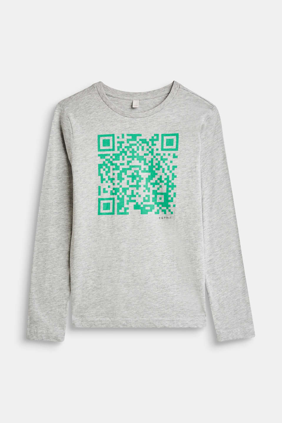Esprit - Melange long sleeve top with a QR code print
