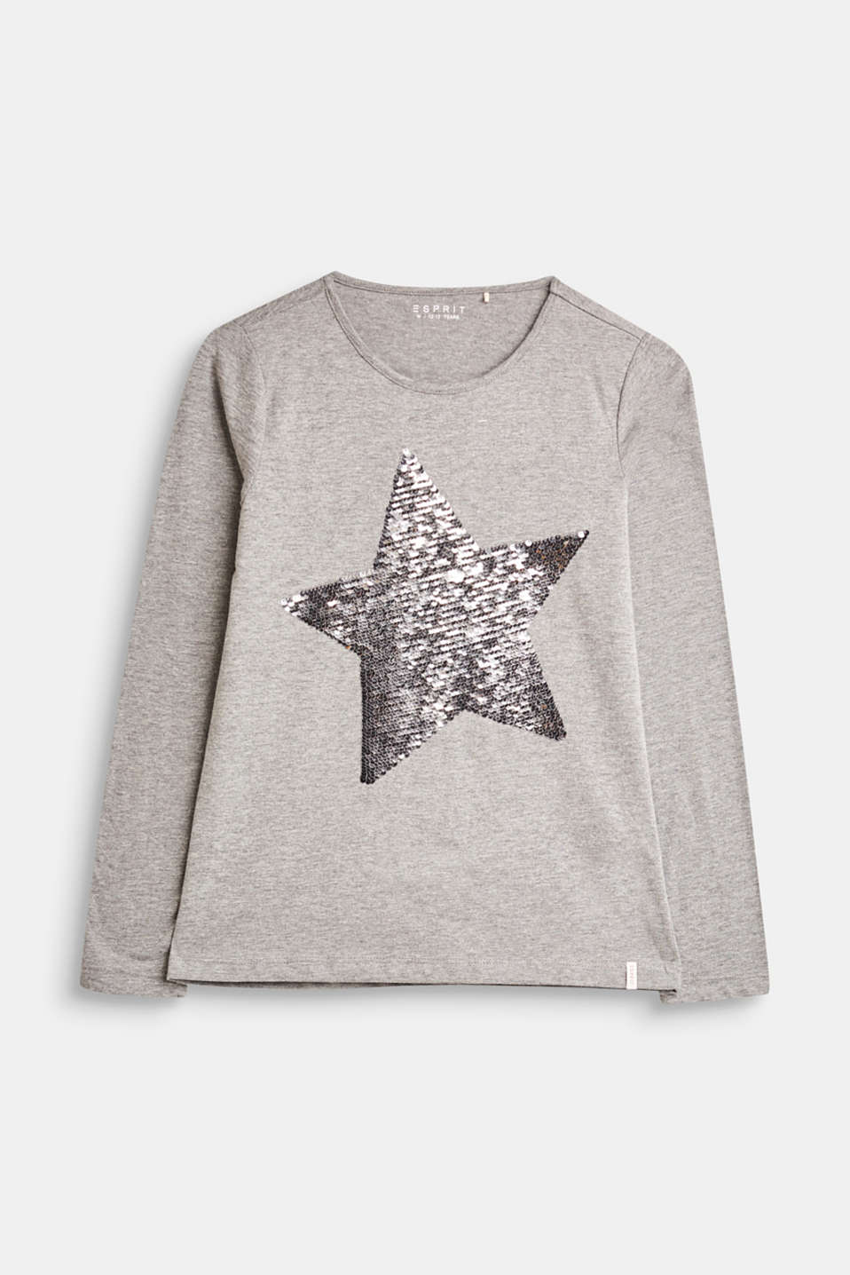Esprit - Long sleeve jersey top with reversible sequins