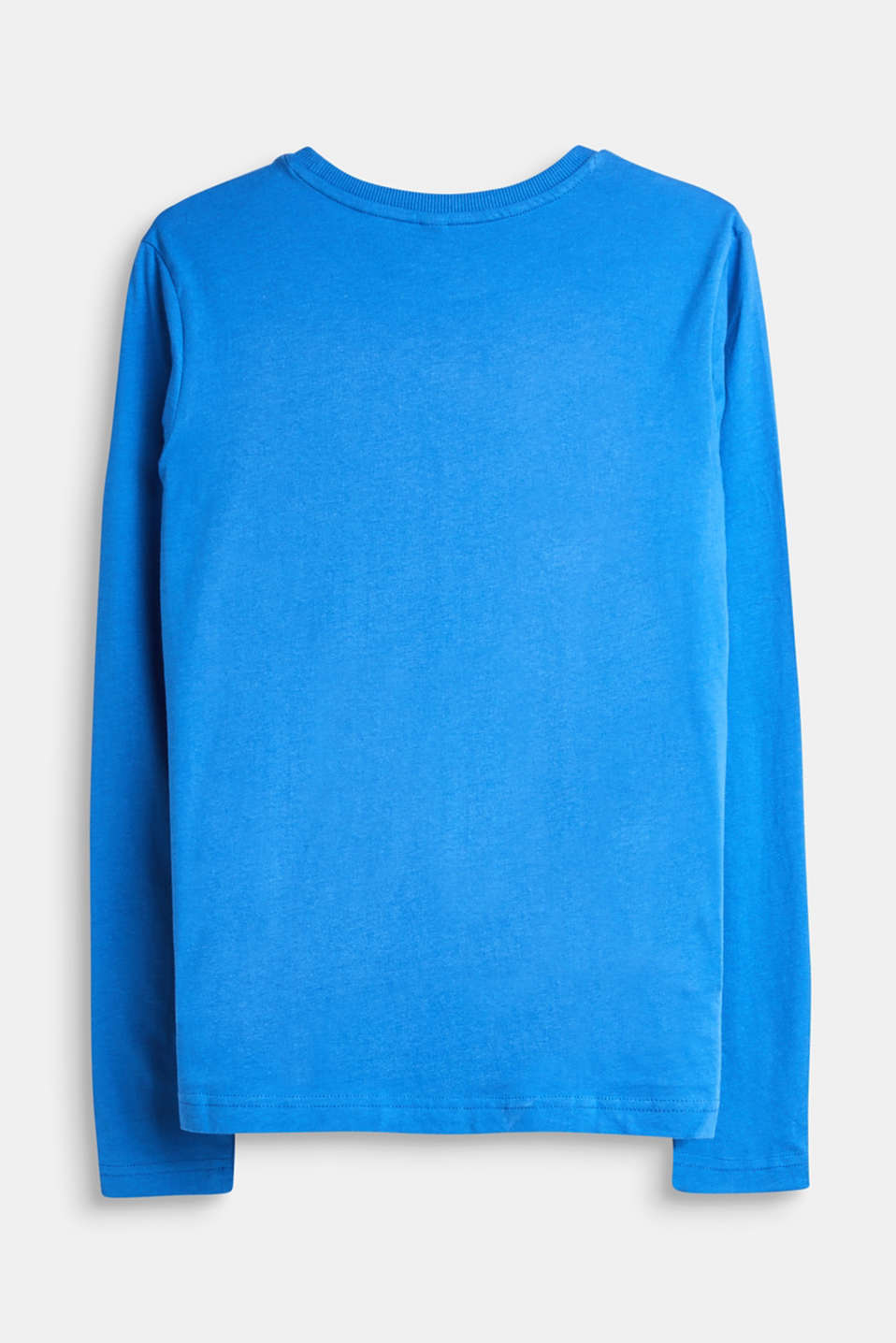 Long sleeve top with logo print in 100% cotton