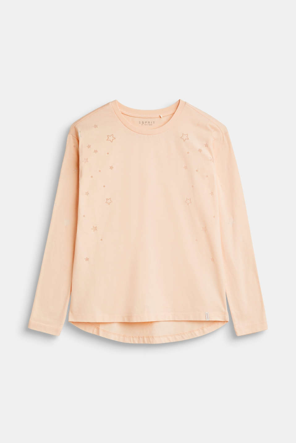 Esprit - Long sleeve top with burnt-out stars