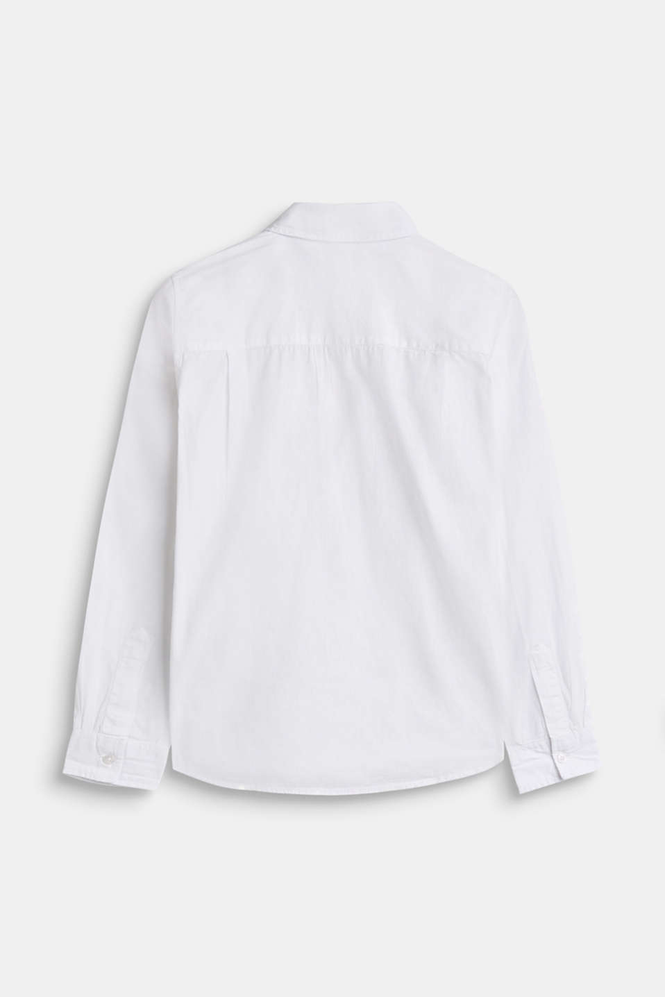Shirt with chambray detail, 100% cotton, LCWHITE, detail image number 1