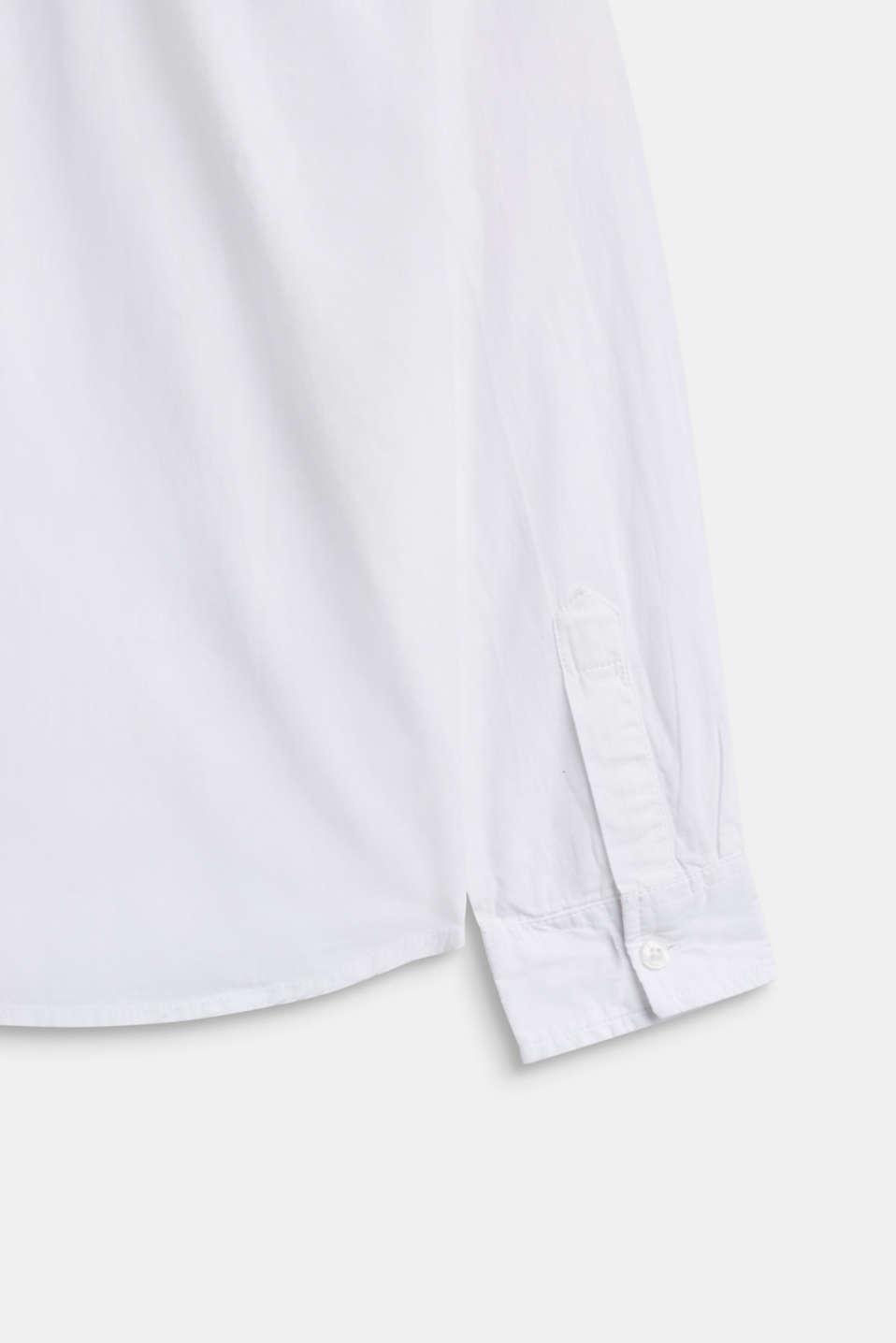 Shirt with chambray detail, 100% cotton, LCWHITE, detail image number 2