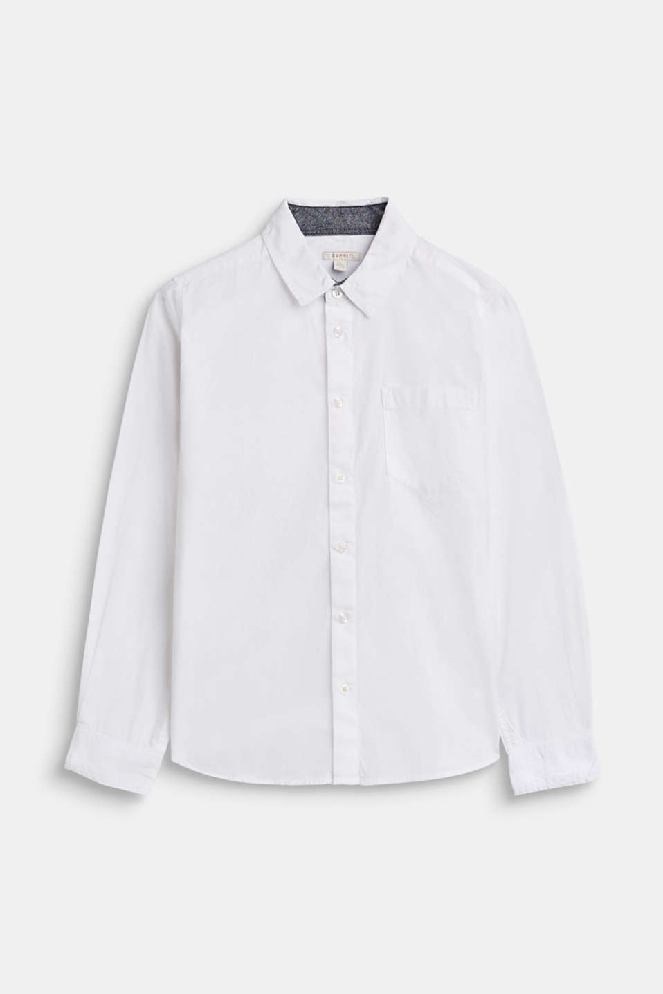 Esprit - Shirt with chambray detail, 100% cotton
