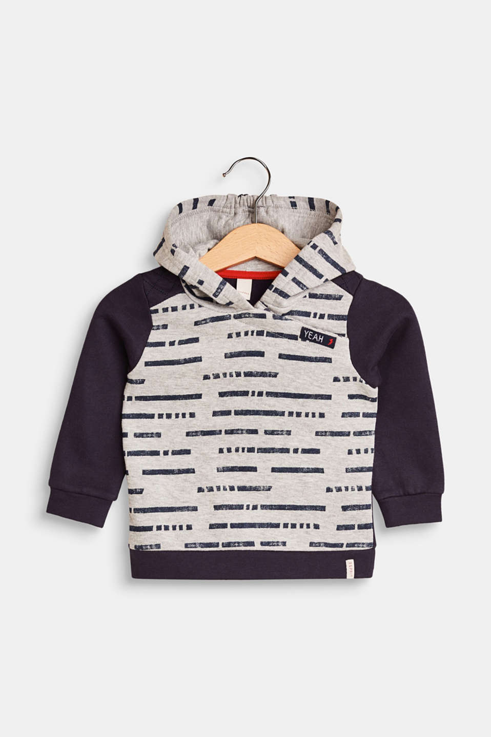 Esprit - Hoodie with a print and button placket