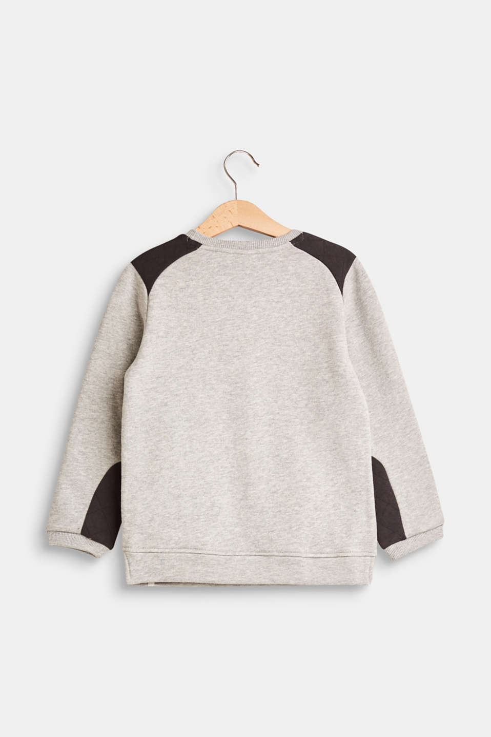 Sweatshirt featuring two kinds of jersey, 100% cotton