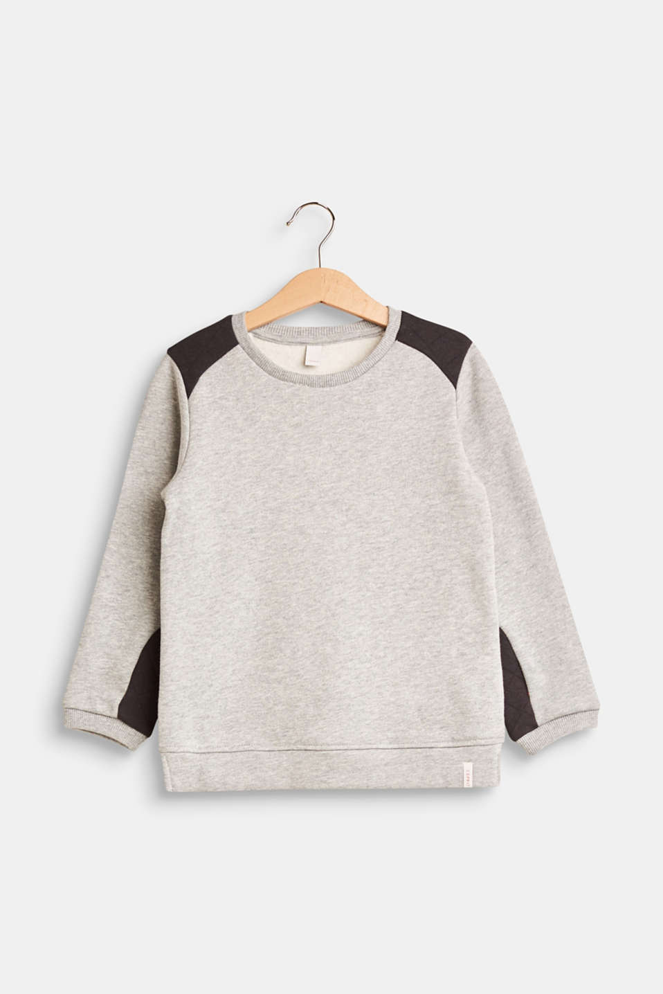 Esprit - Sweatshirt featuring two kinds of jersey, 100% cotton