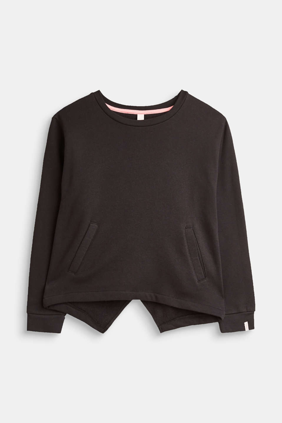 Esprit - Sweatshirt with layers at the back, 100% cotton