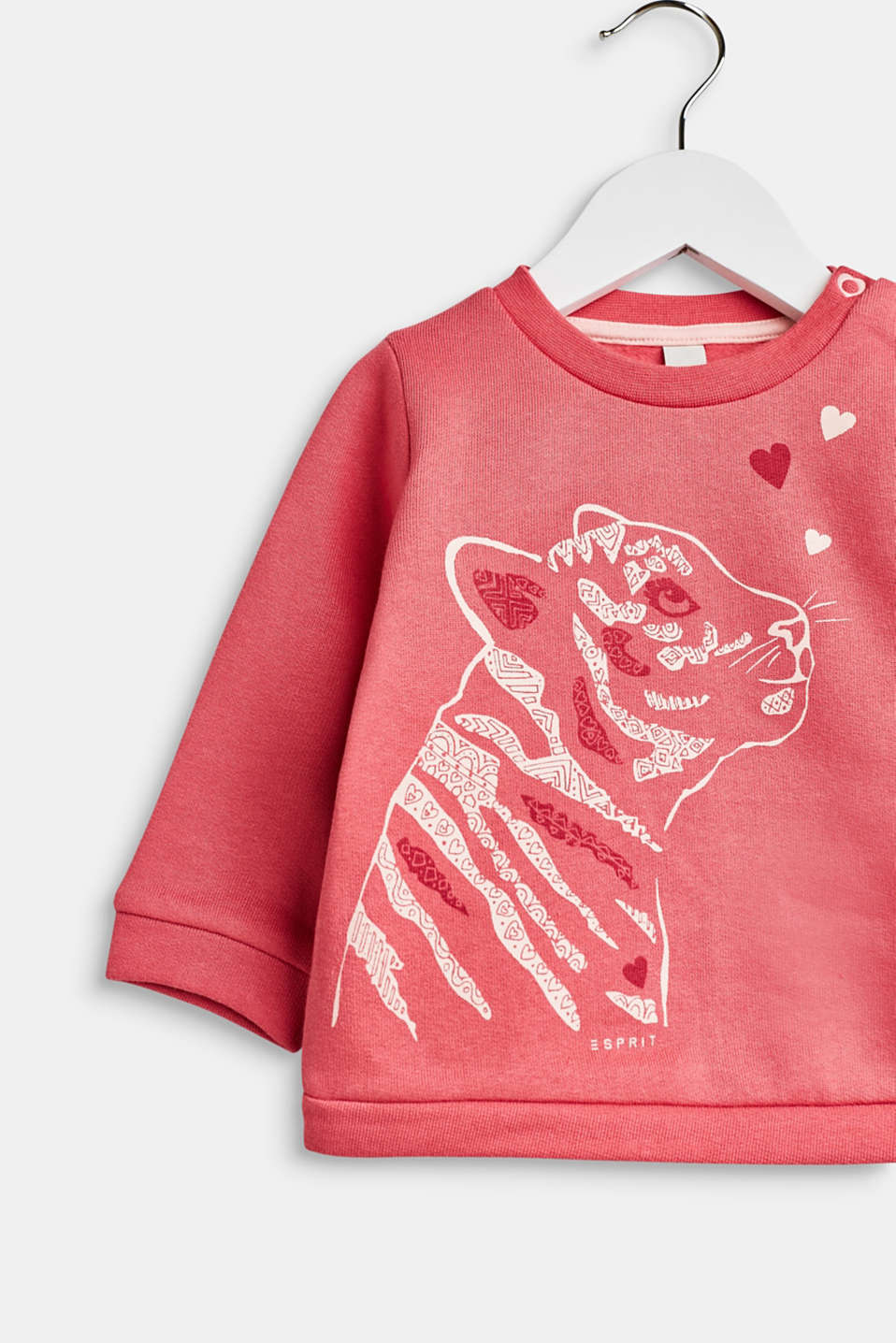 Sweatshirt with a print, 100% cotton, LCTINTED ROSE, detail image number 2