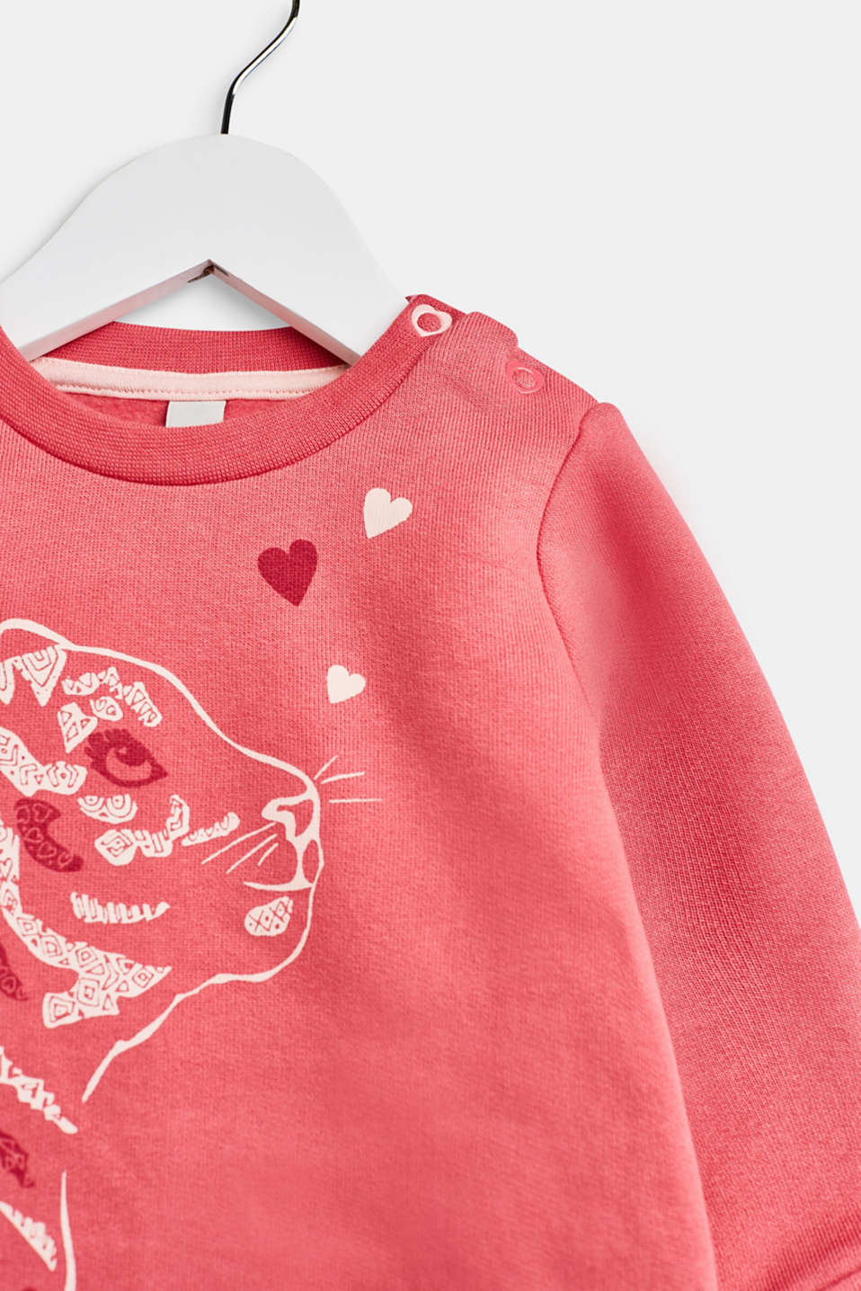 Sweatshirt with a print, 100% cotton, LCTINTED ROSE, detail image number 3