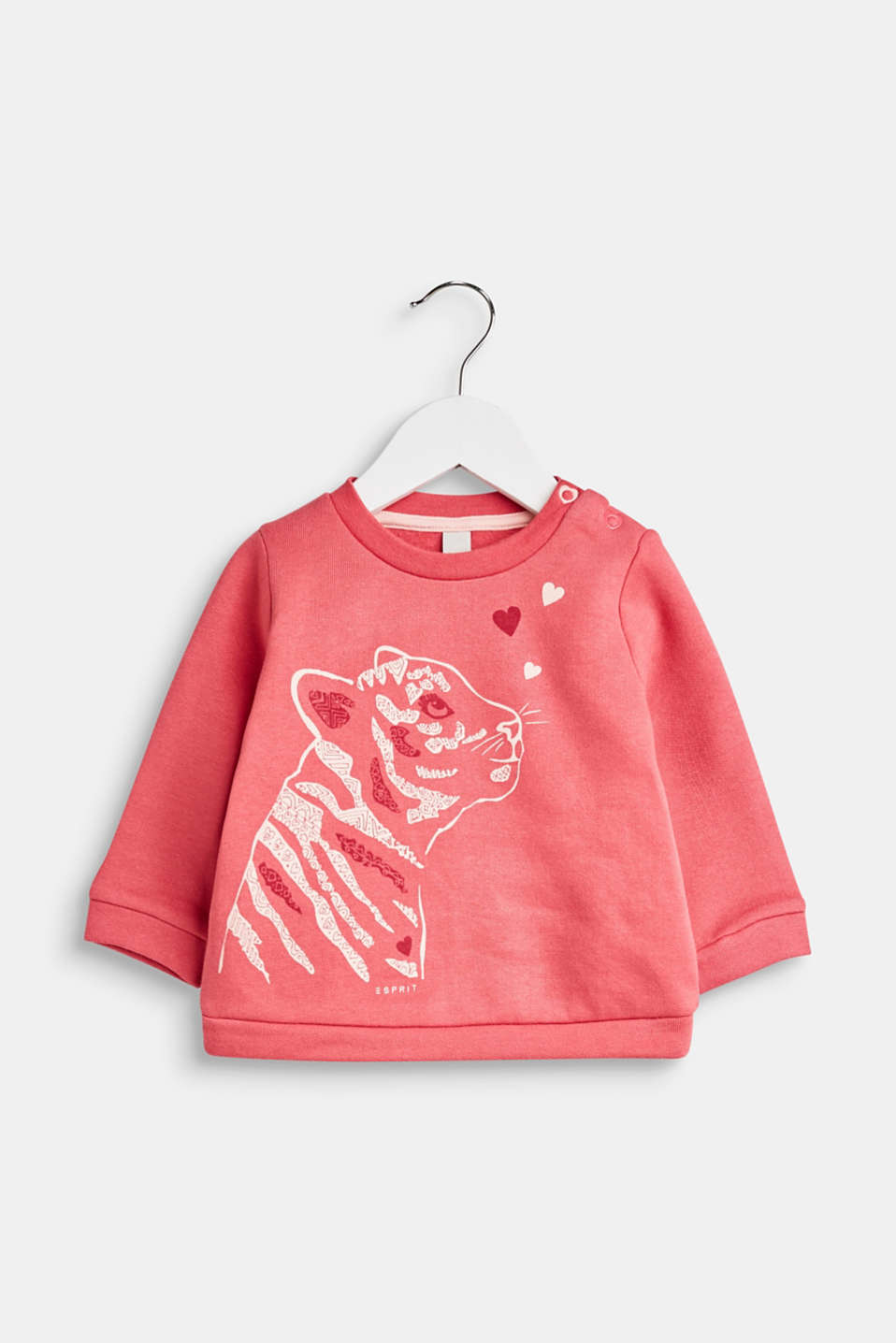 Sweatshirt with a print, 100% cotton, LCTINTED ROSE, detail image number 0