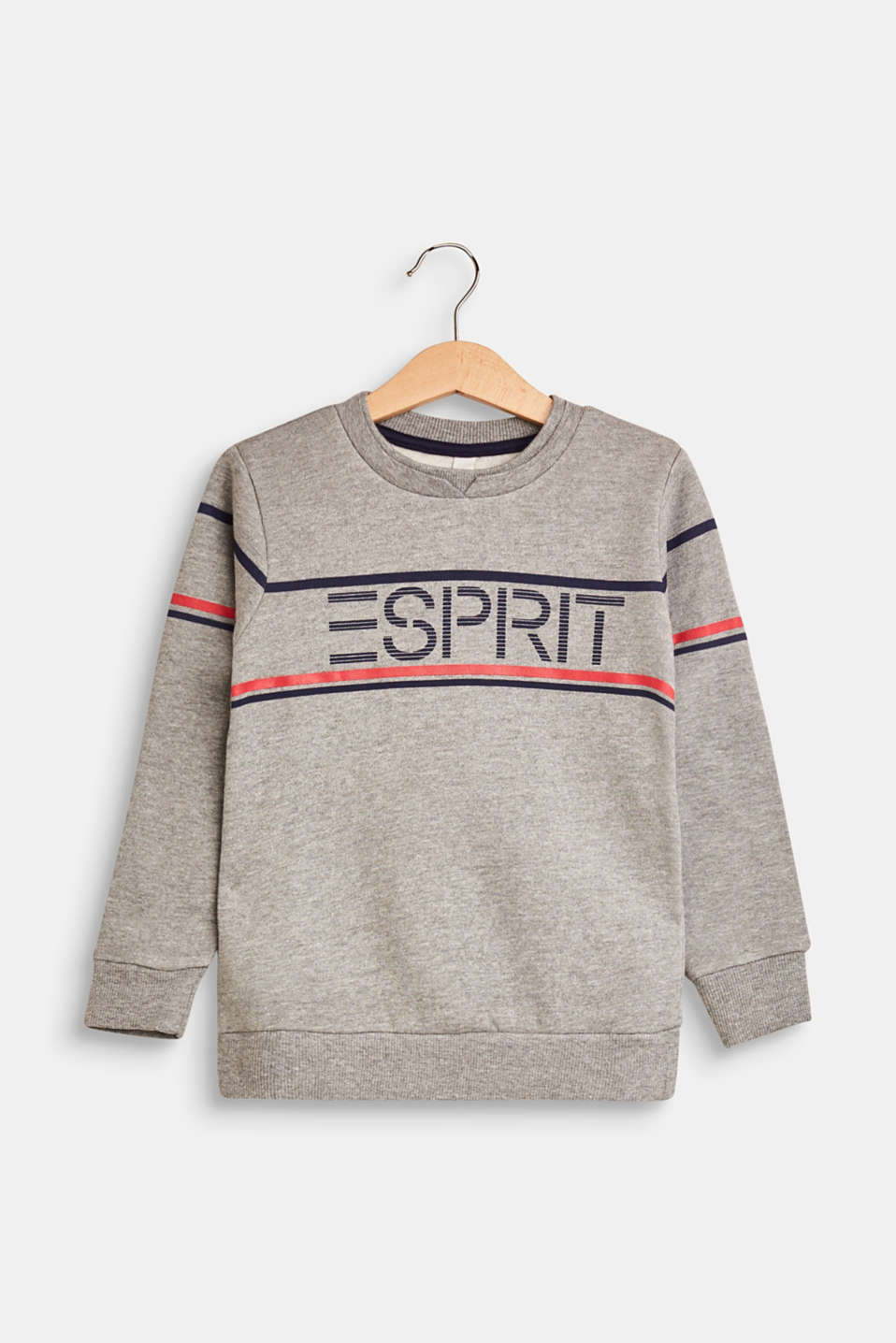 Esprit - Cotton blend sweatshirt with printed logo