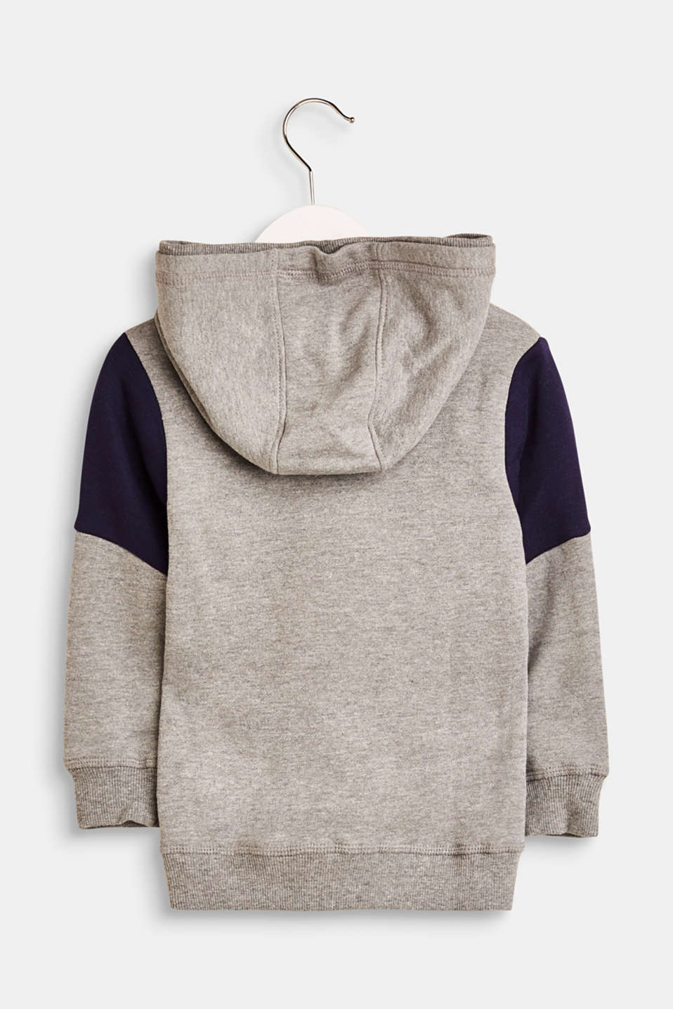 Blended cotton hoodie with a statement print