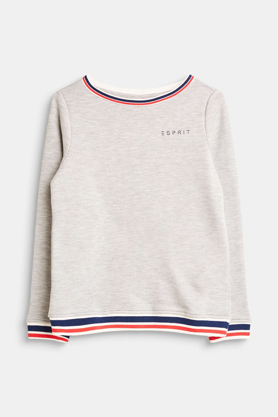 Esprit - Mottled sweatshirt with striped borders