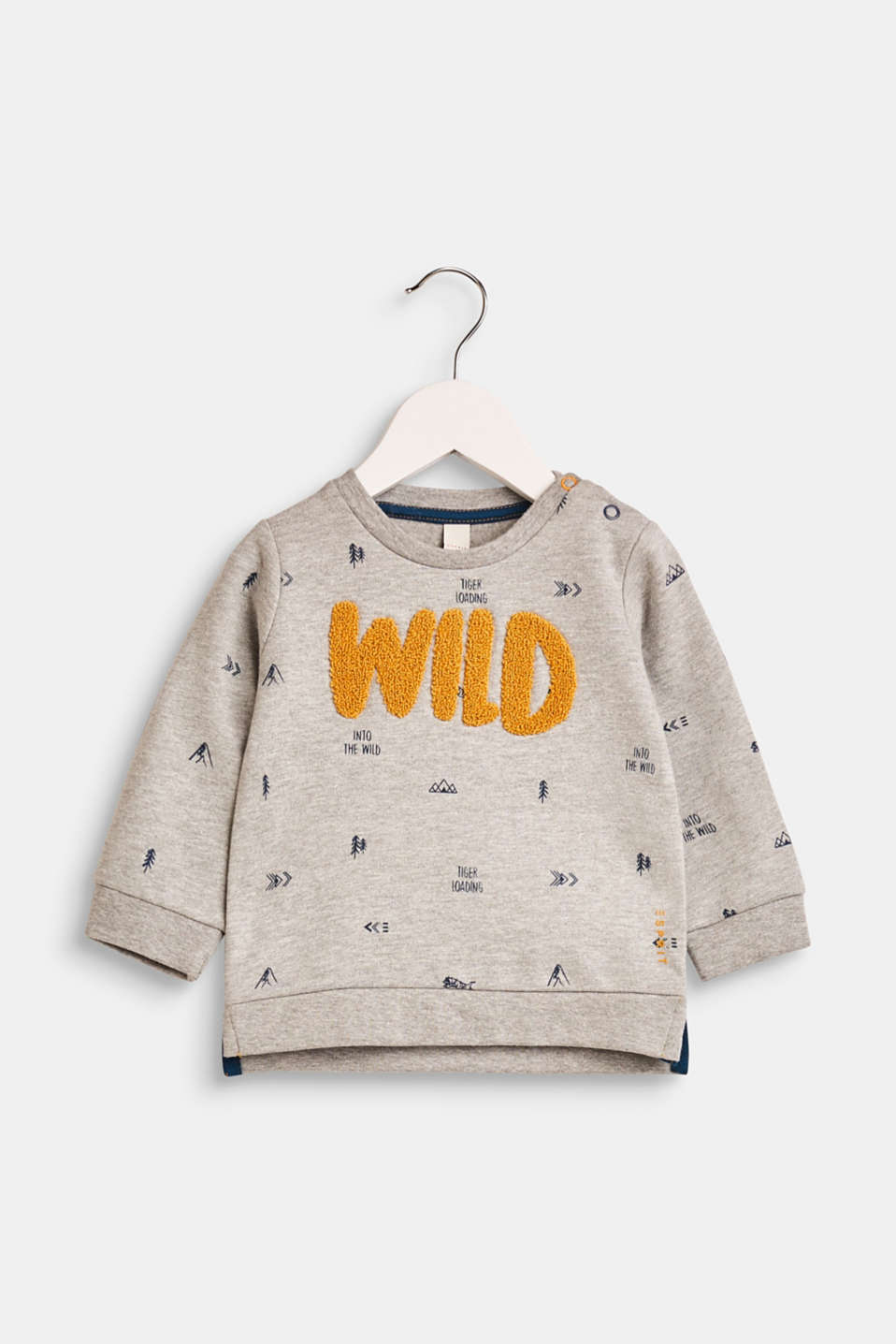 Esprit - Sweatshirt with a mini print and embroidery