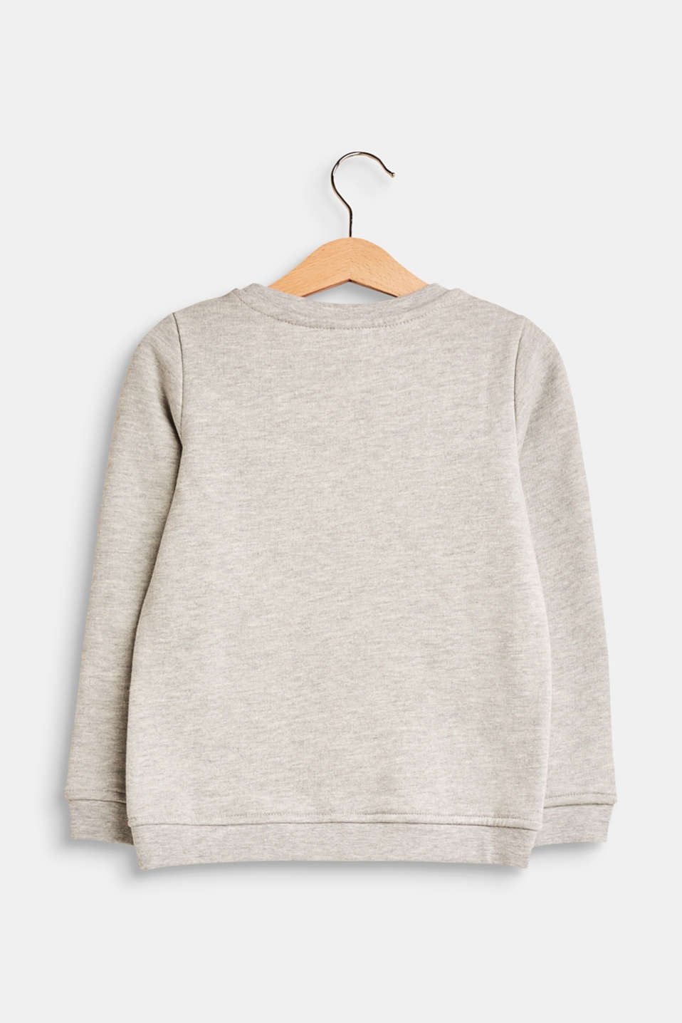 Sweatshirt in blended cotton with a statement print