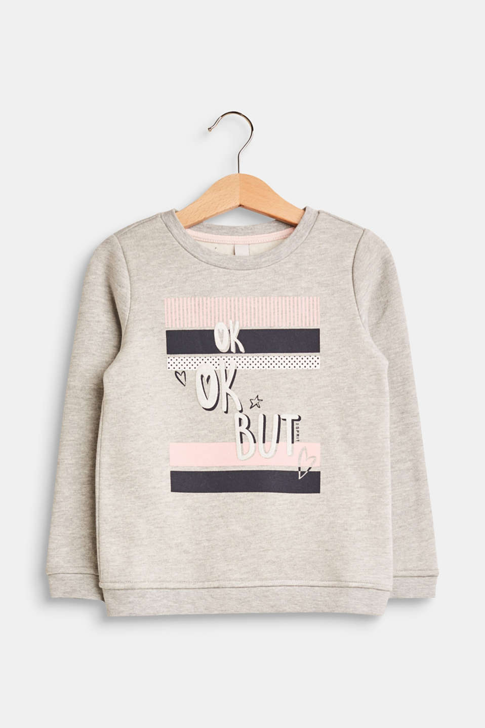 Esprit - Sweatshirt in blended cotton with a statement print